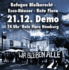 Flora bleibt! Refugees welcome!